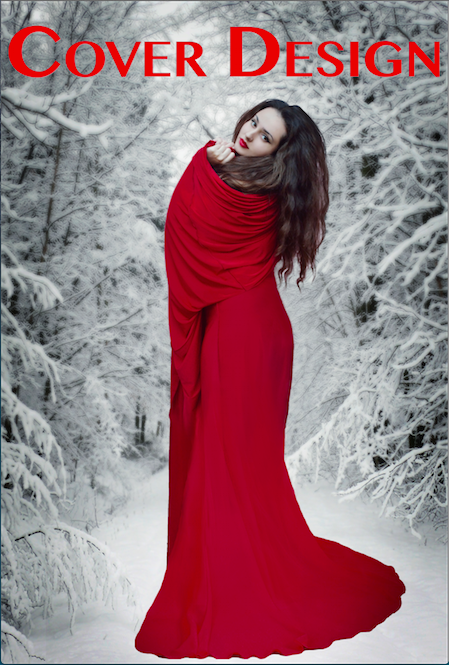 Cover Design--woman in red dress standing in snow