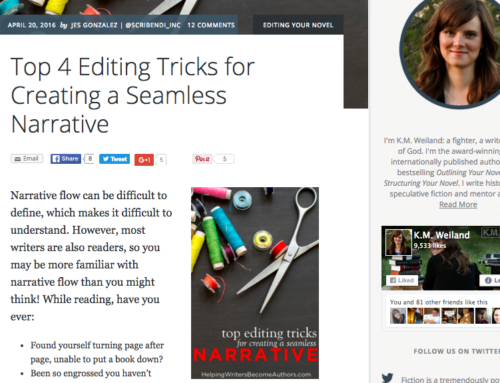 Top 4 Editing Tricks: by Jes Gonzales on K.M. Weiland